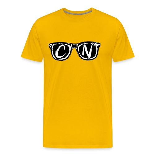 CN Black / White Signature Sunglasses - Men's Premium T-Shirt