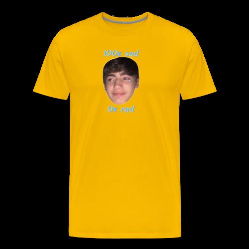 100% sad 0% rad - Men's Premium T-Shirt