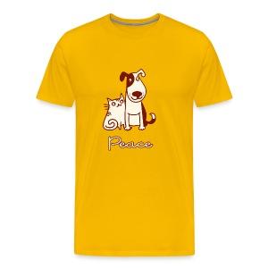 Dogs, cats, peace - Men's Premium T-Shirt