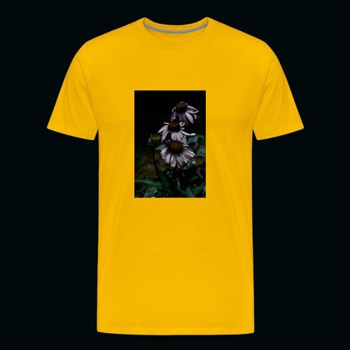 Flowers and Bee - Men's Premium T-Shirt