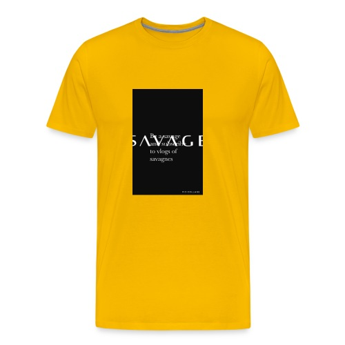 Subscribe to savage mide - Men's Premium T-Shirt