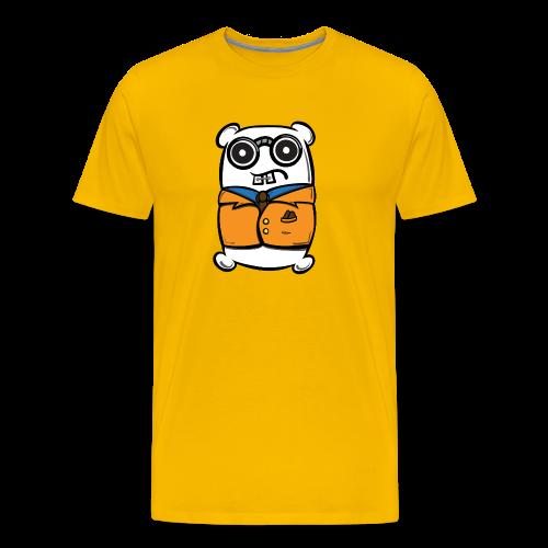White and Nerdy Mr. Pillow Suit - Men's Premium T-Shirt