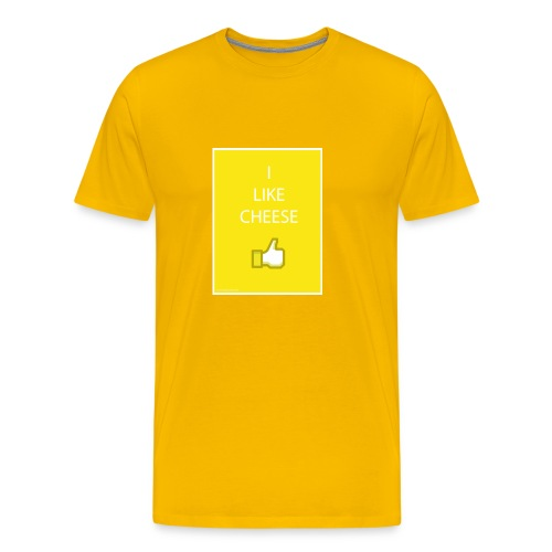 i like cheese - Men's Premium T-Shirt