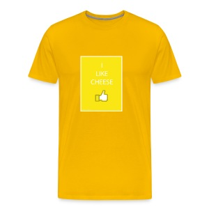 i like cheese - Men's Premium T-Shirt