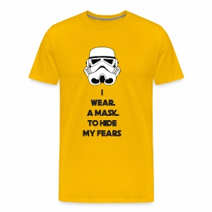 Storm Troopers Mask - Black Text - Men's Premium T-Shirt