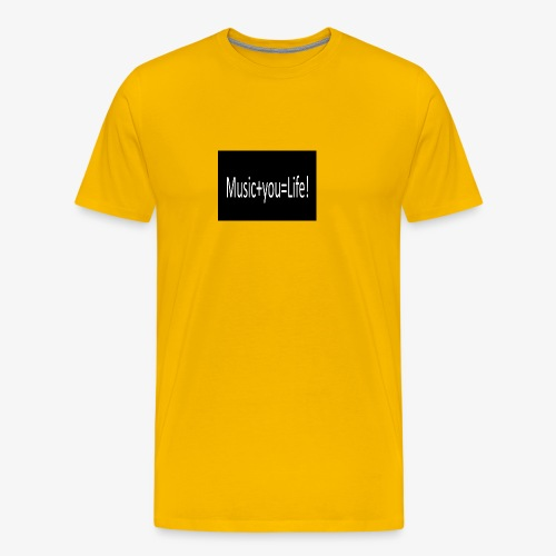 Music+you=Life - Men's Premium T-Shirt