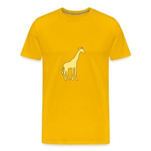 yellow giraffe - Men's Premium T-Shirt