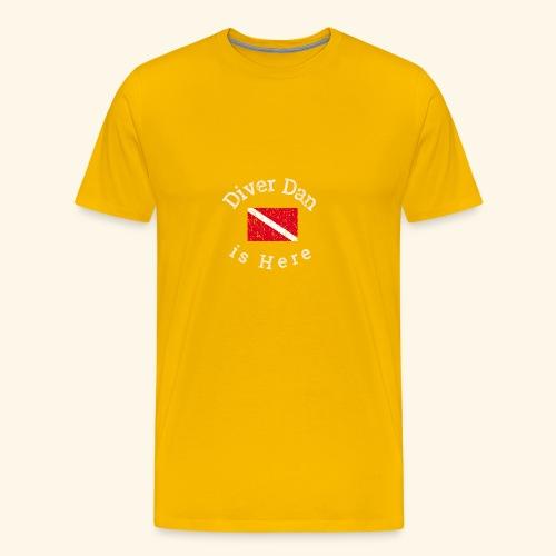 Scuba - Diver Dan is Here, distressed look - Men's Premium T-Shirt