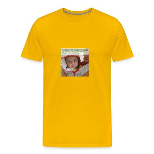 Liedlof - Pura Bebo Baby wearing - Octopus - Men's Premium T-Shirt
