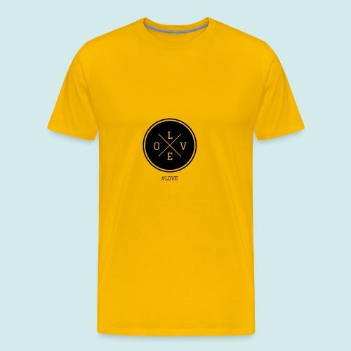 #love black and white - Men's Premium T-Shirt