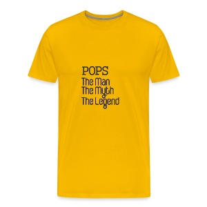 Father's Day Gift - Pops The Man The Myth Legend - Men's Premium T-Shirt