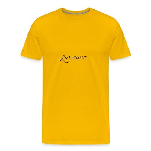 Black Lifewhack Logo Products - Men's Premium T-Shirt
