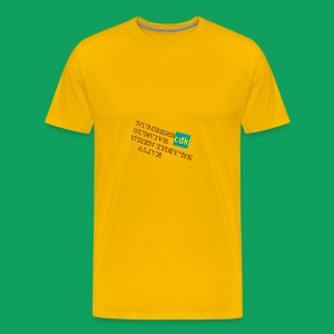 NUMBERS SURVIVE WHEN THEY'RE ALIVE - Men's Premium T-Shirt