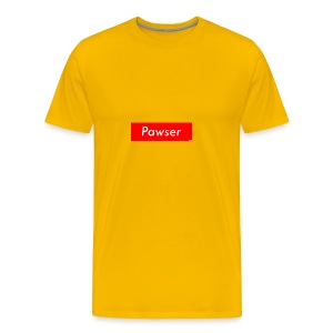 Pawser Logo SUPREME Style - Men's Premium T-Shirt