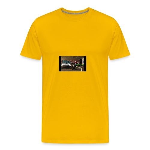 Harmin vlogs banner - Men's Premium T-Shirt