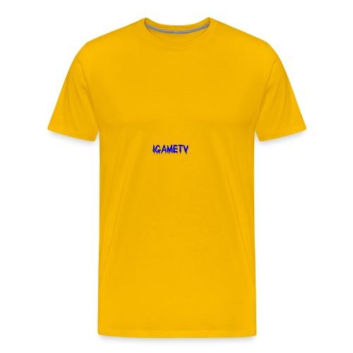 IGAME TV BLUE EDITION - Men's Premium T-Shirt