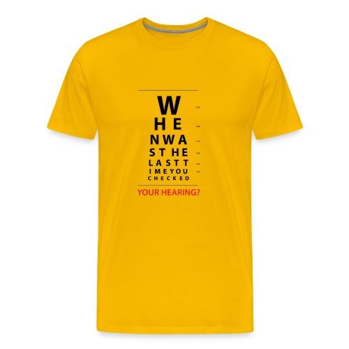 HEARING EYE CHART - Men's Premium T-Shirt