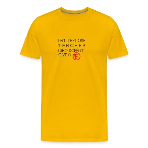 tEACHER f - Men's Premium T-Shirt