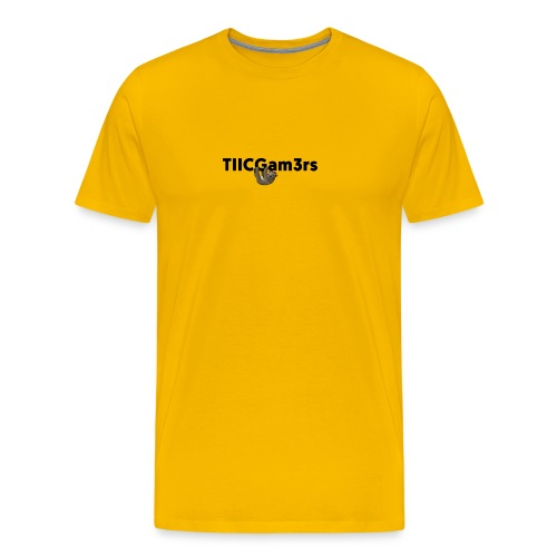 Sloth Hanging on Text - Men's Premium T-Shirt