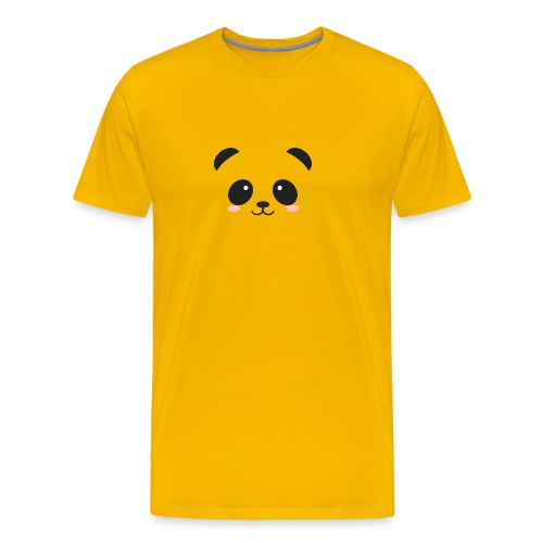 Panda Simple Face - Men's Premium T-Shirt