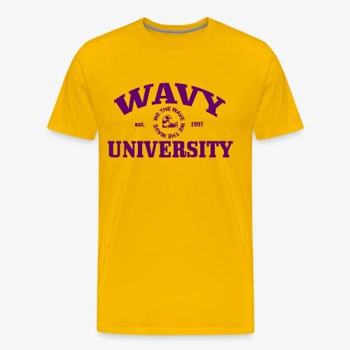 Wavy U (Purple) - Men's Premium T-Shirt