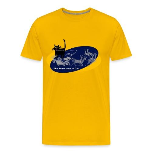 Cat Loves Christmas - Men's Premium T-Shirt