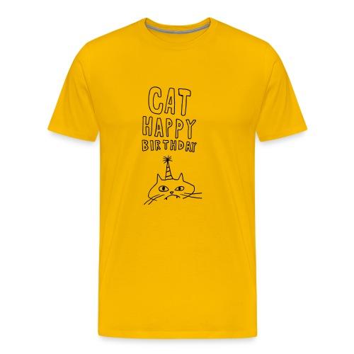 Cat Happy Birthday Collection - Men's Premium T-Shirt