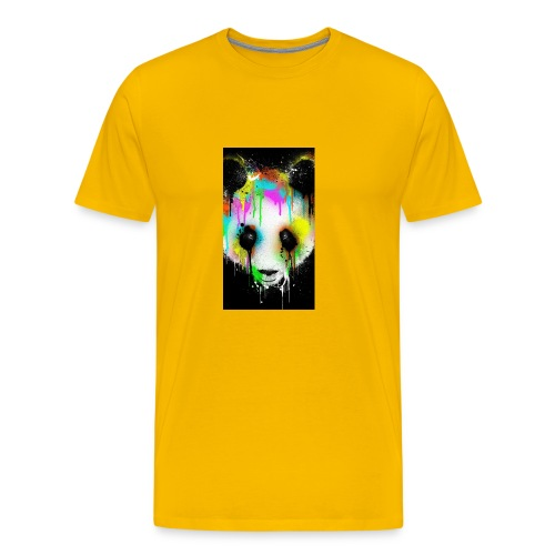 panda paint - Men's Premium T-Shirt