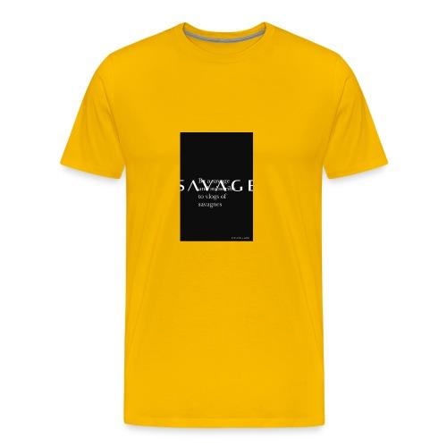 Subscribe to savage mide - Men's Premium T-Shirt