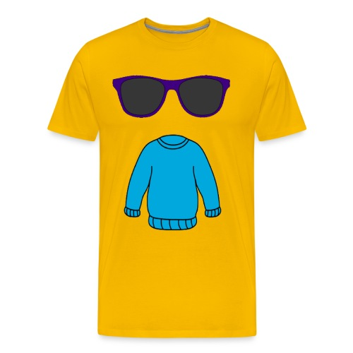 sweater glasses - Men's Premium T-Shirt