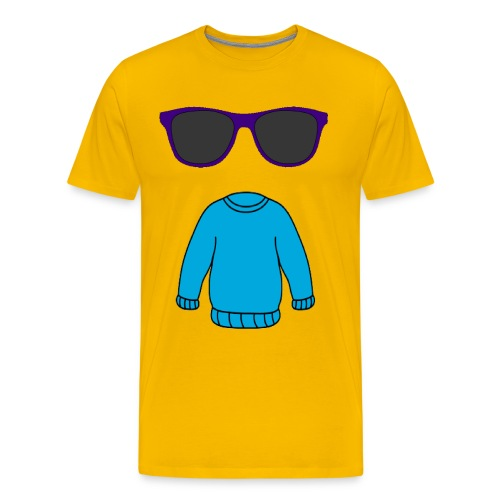 sweater glasses - Men's Premium T-Shirt