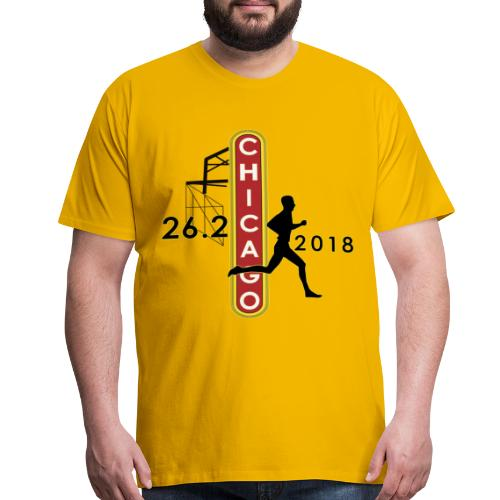 Chicago 26.2 Marathon 2018 - Men's Premium T-Shirt