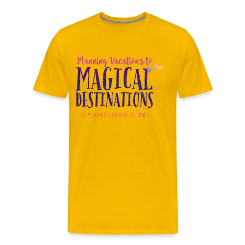 Living With The Magic Vacations Shirt - Men's Premium T-Shirt