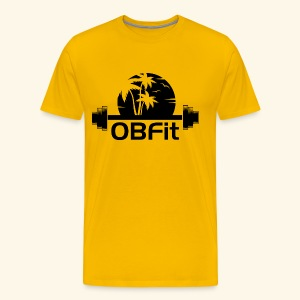OB Fit (black logo) - Men's Premium T-Shirt