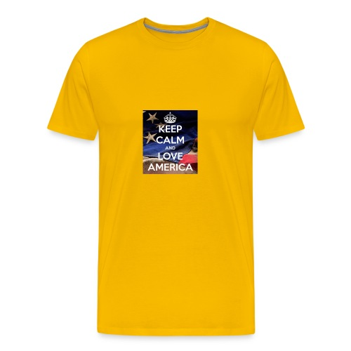Keep calm and love America - Men's Premium T-Shirt
