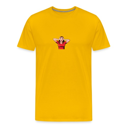 shockedwomanimg - Men's Premium T-Shirt