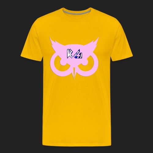 RG Pink Owl Logo - Men's Premium T-Shirt