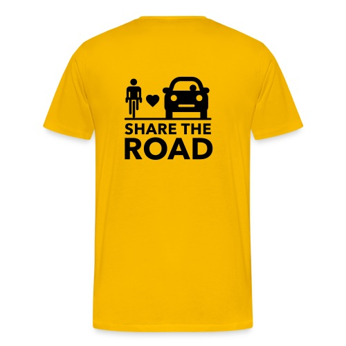 Share the road - Men's Premium T-Shirt