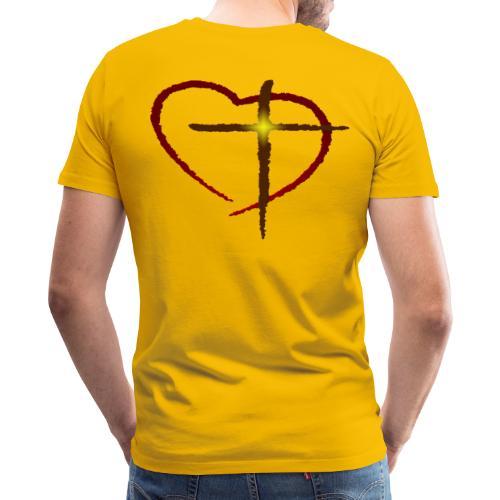 Heart and Cross - Men's Premium T-Shirt