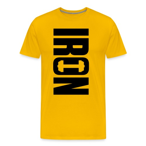 IRON WEIGHTS - Men's Premium T-Shirt