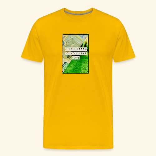 100€ vs green - Men's Premium T-Shirt