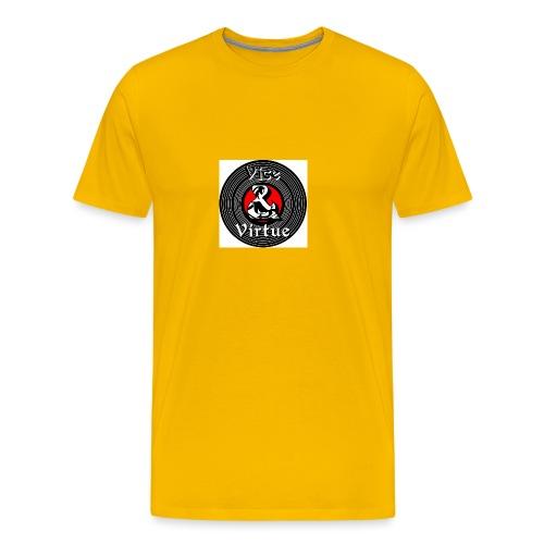 Vice and Virtue White Background No Info Circle - Men's Premium T-Shirt