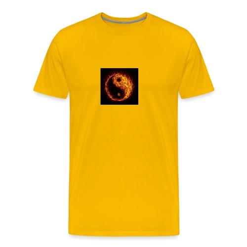 Panda fire circle - Men's Premium T-Shirt