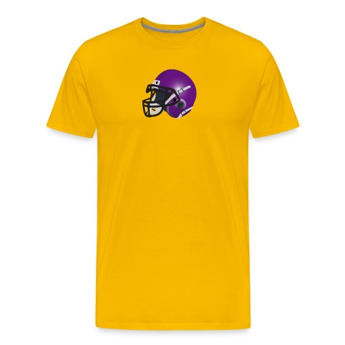 purple footbal lhelmet - Men's Premium T-Shirt