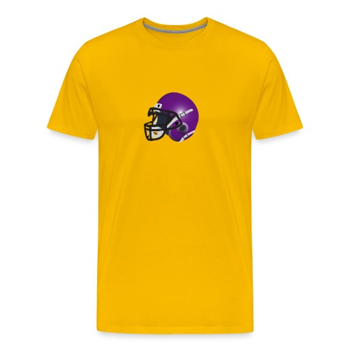 purple footbal lhelmet - Men's Premium T-Shirt