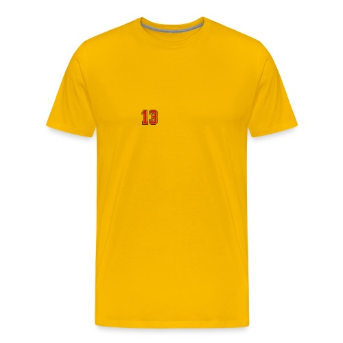 13 sports jersey football number1 - Men's Premium T-Shirt