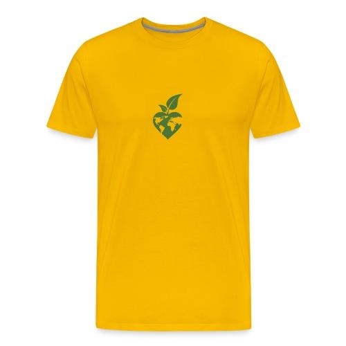 Heart, World, Grow - Men's Premium T-Shirt