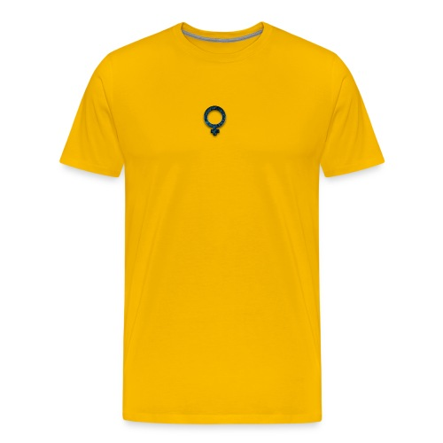 blue retro rusted grunge icon symbols shape - Men's Premium T-Shirt
