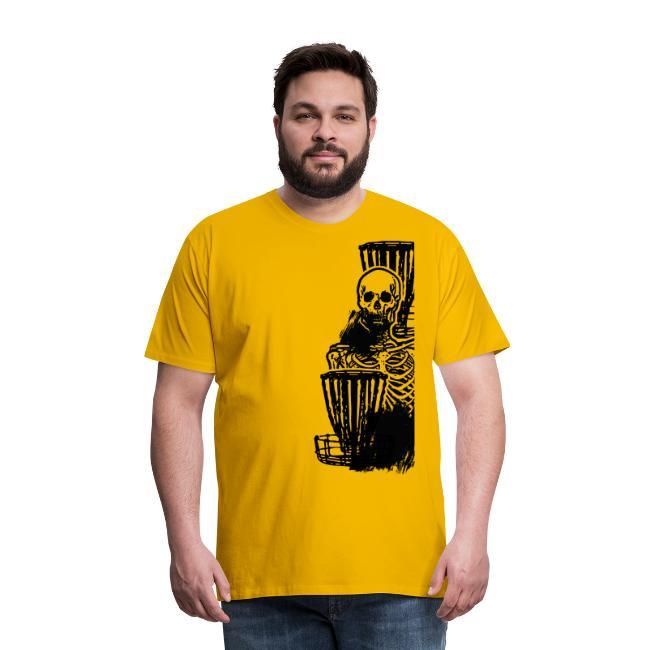 Disc Golf Until Death Black Print Skeleton Shirt