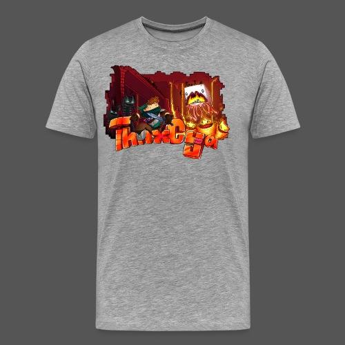 ThnxCya tshirt nether design by Jonas Nacef png - Men's Premium T-Shirt